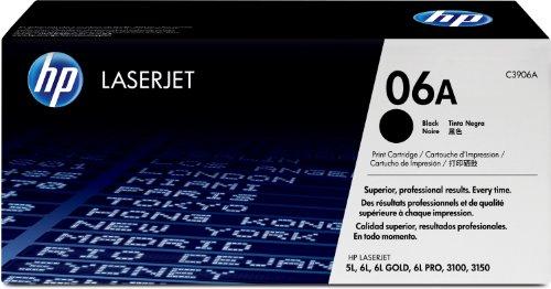 Original HP Toner 06A für LaserJet  5l / 6l / 3100 / 3150 (schwarz, Standard, 2500 Seiten) C3906A