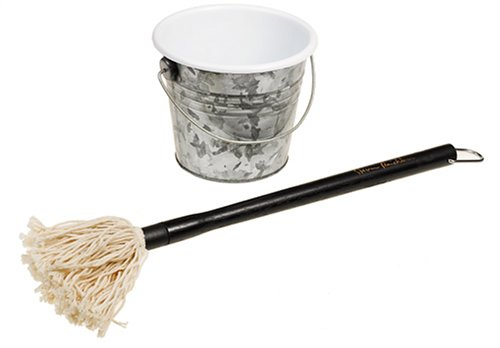 Steven Raichlen Best of Barbecue Barbecue Sauce Mop and Bucket Set
