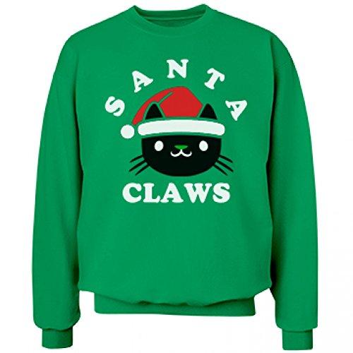 [Santa Claws: Unisex Hanes Ultimate Crewneck Sweatshirt] (Cheap Mrs Claus Outfit)