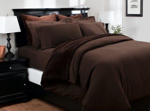 Pinzon 160-Gram Solid Flannel Duvet Cover