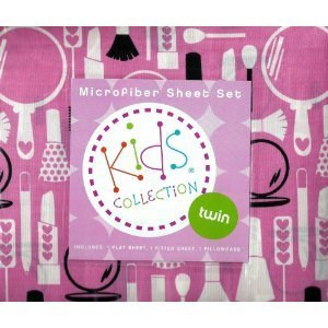 Amazon.com: Kids Collection Microfiber Twin Sheet Set: Girl's ...