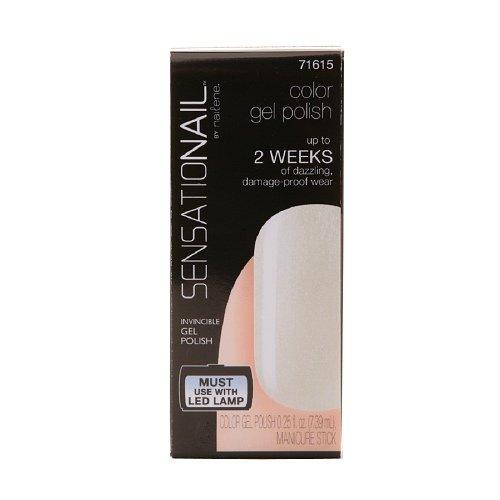 Sensationail Color Gel Polish, Wedding Pearl 0.25 Fl Oz (7.39 Ml)
