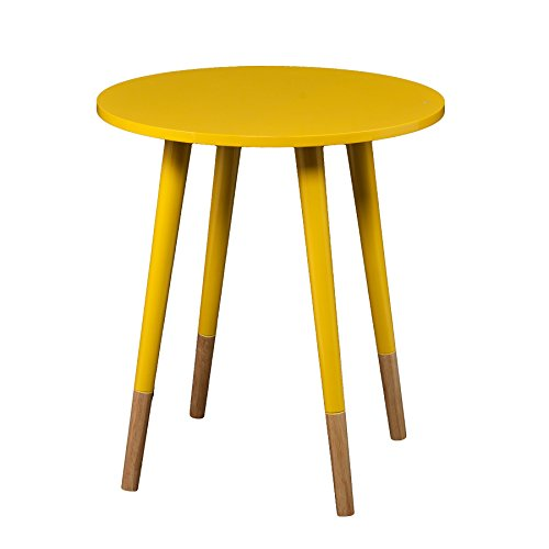 bright yellow accent table