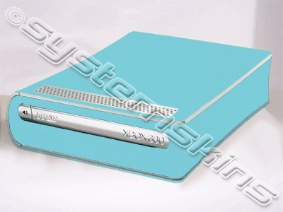 Microsoft Xbox 360 HD DVD Skin - NEW - ICE BLUE system skins faceplate decal mod n male to n female attenuator dc 3ghz 50w watt 30db coaxial power with heat sink attenuator free shipping
