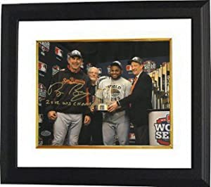 Bruce Bochy signed San Francisco Giants 8x10 Photo Custom Framed 2012 WS Champs... by Athlon Sports Collectibles