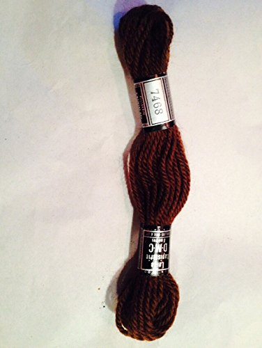 DMC Tapestry and Embroidery Wool 8.8y Dark Brown 688-7468