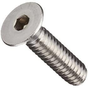 "18-8 Stainless Steel Socket Cap Screw, Plain Finish, Vented, Flat Head, Internal Hex Drive, 1-1/2"" Length, Fully Threaded, #10-32 UNF Threads (Pack of 10)"