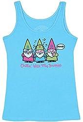 Women's Gnomies Pajamas -Blue Tank Top