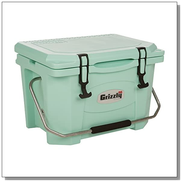 Grizzly Coolers 20 Quart Sea Foam Green