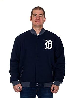 Detroit Tigers Jacket - Wool & Nylon Reversible