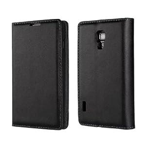 Bfun Packing Black Premium Leather Wallet Flip Case Cover For LG Optimus L7 II 2 P710 P715