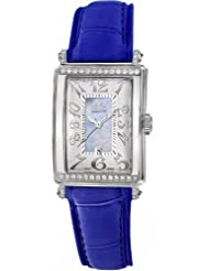 Gevril Women's 7247NT.3B Blue Mother-of-Pearl Genuine Alligator Strap Watch