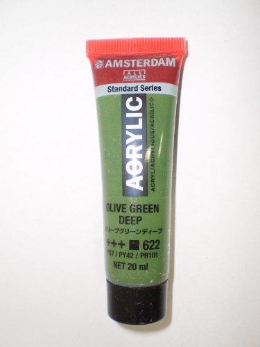 アムステルダムアクリリックカラー20ml オリーブグリーンディープ AAC20#622