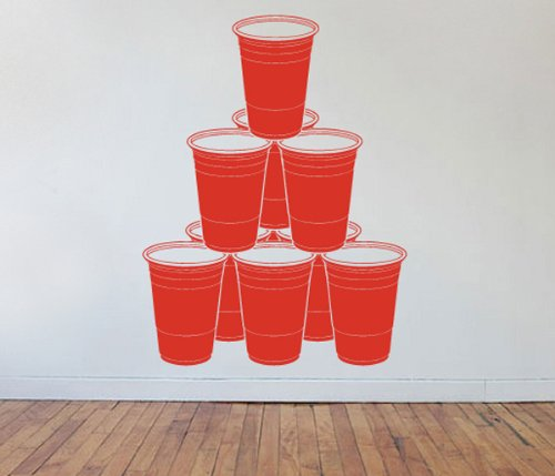 Beer Pong Chandelier Rack Formation Vinyl Wall Decal