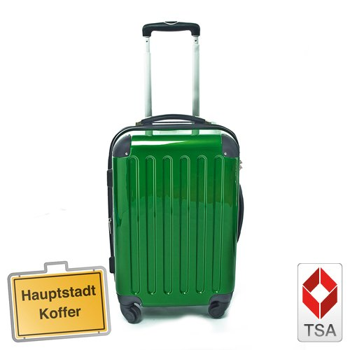 Hartschalen Koffer Grün Hochglanz max.87 L Reisetrolley