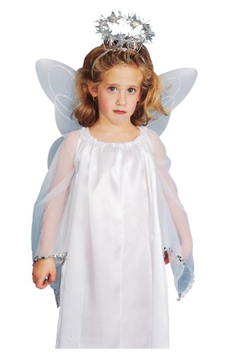 Rubies Child Angel Costume Accessory Kit with Wings and Halo
