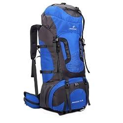80L Tactical Trekking Backpack Mountaineering Shoulder Bag Pack For Camping Hiking Long Journey - Blue