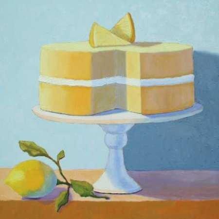 Feelingathome- imprimer-sur-toile-100%coton-Double-Couche-Cake-au-citron-cm28x28-affiche-reproduction-gravure-