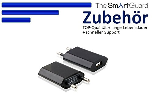 Original THESMARTGUARD® Samsung Galaxy S4 I9505 Netzteil Adapter Ladegerät in schwarz - NEU mit überarbeiteter Ladegeschwindigkeit von bis zu 2.1A!