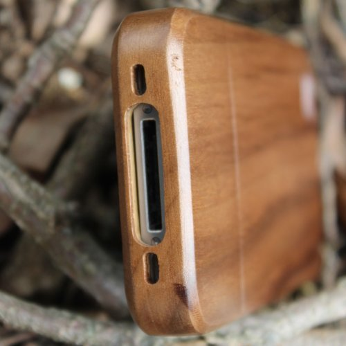 eimolife Unique Handmade Natural Walnut Hard Case Cover for iphone 4 4s(Plain) (Wood Iphone 4 Case compare prices)
