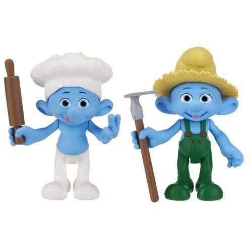Smurfs Movie Basic Figure Pack Wave #2 Farmer Smurf And Baker Smurf - 1