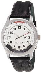 Fastrack Analog White Dial Mens Watch - NE3001SL01