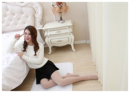 Women Warm Autumn Winter Stockings Socks Stretch Tights Ribbed Pantyhose Color:Nude