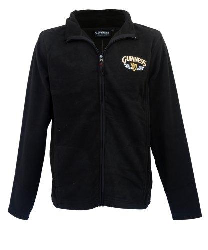 guinness-official-merchandise-harp-trademark-fleece-mens-jacket-black-xx-large