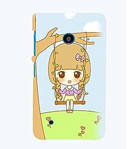 Printvisa Animated Sweet Girl On A Hammock Back Case Cover for Nokia Lumia 530::Microsoft Lumia 530