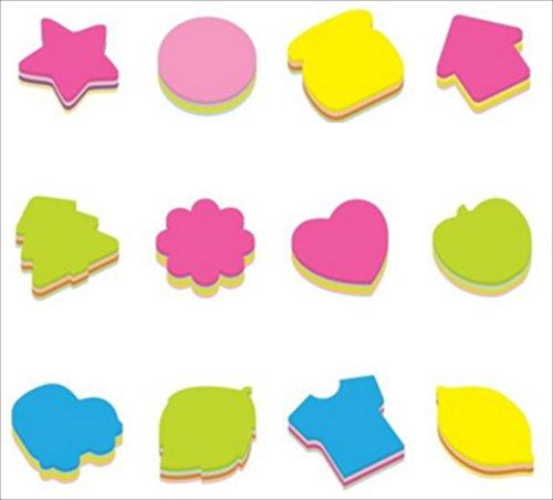 玩具の神様 かわいいポストイット 付箋ふせん ノート 蛍光 4色 合計160枚 (12種セット)