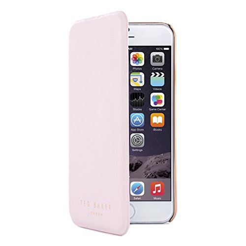 Ted Baker collection 2015 iPhone 6S calex ufficiali di Ted Baker per iPhone 6 Rose finitura: dorato Custodia iPhone 6 Plus oro Custodia a portafoglio per Apple iPhone 6 professionale per iPhone 6 marchio motivo donna Cover per iPhone 6-Custodia donna SHANNON-BR-Bianco