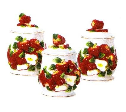 APPLE 3-D Canisters Set of 3 ^NEW^ Canister