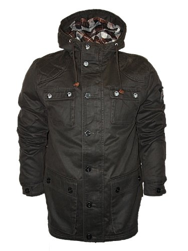 New Mens Brown Le Breve Jeans Bet It Designer Branded Hooded Jacket Size S