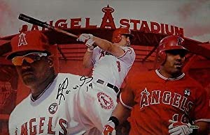Kendrys Morales Hand Signed Autographed 13x20 Canvas Anaheim Angels - Upper Deck... by Sports Memorabilia
