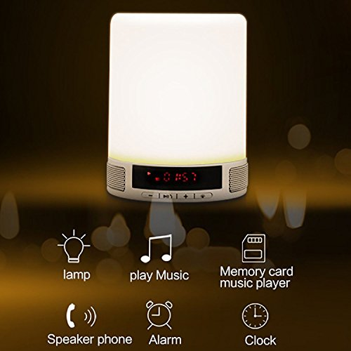 Bedroom lamp support memory card music player with morning alarm clock