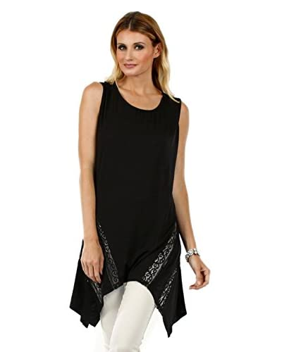 Aster by Firmiana Women's Sheer Sharkbite Tunic