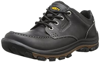 KEEN Men's Nopo Lace Shoe,Black/Full Grain,7 M US