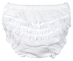 I.C. Collections Little Girls White Batiste Rumba Panties, Size 01