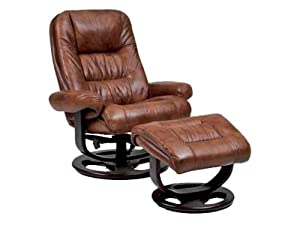 Rebel Essentials Leather Ergonomic Recliner Color: Strawberry