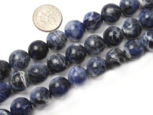 Sweet & Happy Girl'S Store 12mm Round Gemstone Sodalite Stone Beads Strand 15