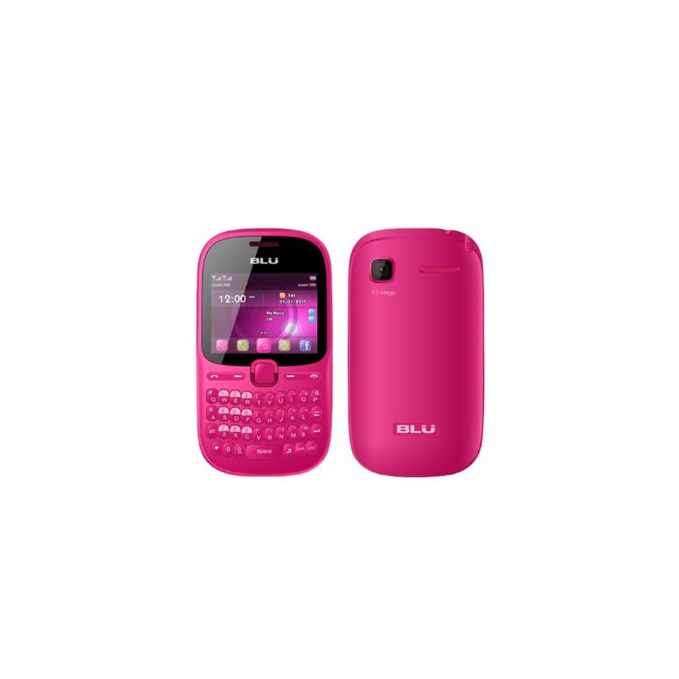 BLU Hero Pro Q333w Unlocked GSM Phone with Tri SIM, QWERTY Keyboard, 1.3MP Camera, Video Recorder, Analog TV, Wi Fi, Bluetooth, Stere FM Radio, /MP4 Player and microSD Slot   Pink