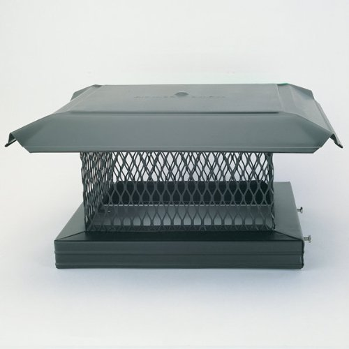 Buy Bargain Chimney 14811 HomeSaver Pro Black Chimney Cap - .75 Inch Mesh - 17 Inches x 17 Inches