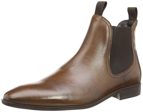 Dune Muggles- Stivaletti alla caviglia non foderati uomo, colore Marrone (Brown (511 Tan Leather)), taglia 40 EU (6 UK )