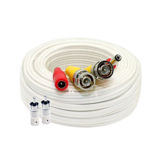 GW Security 60 Feet Pre-made Siamese All-in-One BNC Video and Power Cable for CCTV Security Camera System (Security Cameras Direct compare prices)