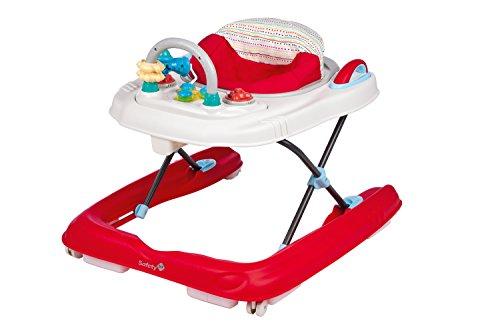 Safety 1st 27568820 Happy Step 2-in-1 Lauflernwagen mit elektronischem Spieltisch, red dot