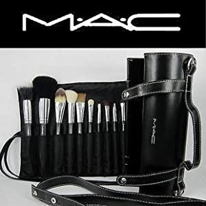 16pcs Professional Cosmetic MAC Makeup Brushes Set With Pu Leather Cover Amazon.co.uk Beauty