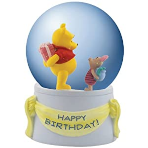 Westland Giftware Winnie The Pooh Musical Happy Birthday Water Globe, 85mm by Westland Giftware - Home Decor