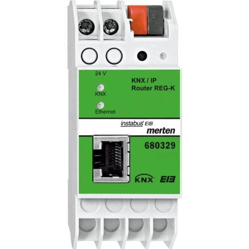 680329 KNX/IP-Router REG-K, lichtgrau