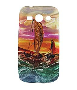 Exclusive Rubberised Back case Cover For Samsung Galaxy Star Advance G350E / G350e - Sailing Boats