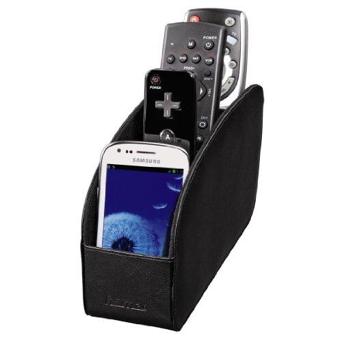 Major Fernbedienungshalter (Organizer für Brillen, Smartphones, Controller, USB-Sticks, bis zu 4 Fernbedienungen) schwarz